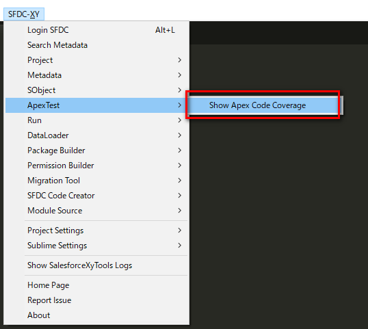 How to export Apex Code Coverage | SalesforceXyTools